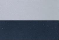 Aussenfarbe diamantsilber / heliosblau metallic