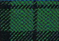 Porsche Stoff Schottenkaro grün / blau
