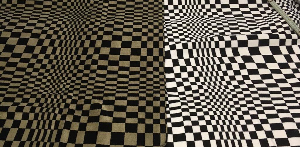 Porsche Stoff Pascha schwarz graubeige, Porsche Stoff Pascha schwarz weiss, Porsche fabric Pascha black gray-cremé, Porsche fabric black white